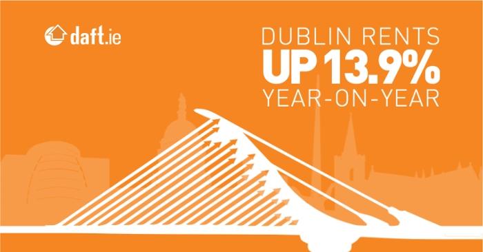 Dublin rents up 13.9%