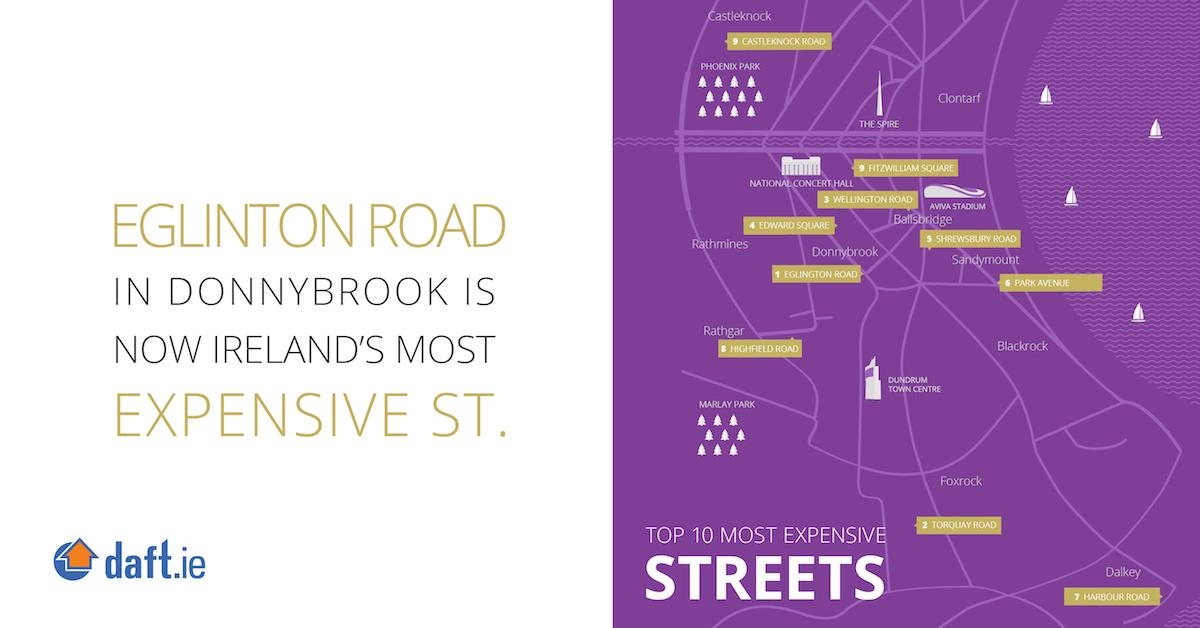 Eglinton Road in Donnybrook is now Ireland's most expensive street