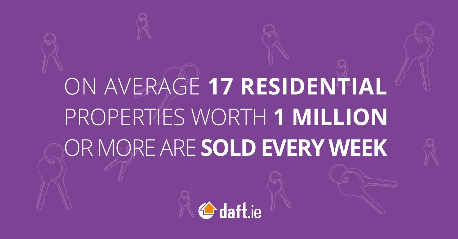On average 17 residential properties worth 1 million or more are sold every week