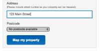 Enter address of property
